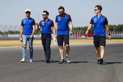 Pierre Gasly, Toro Rosso, walks the track