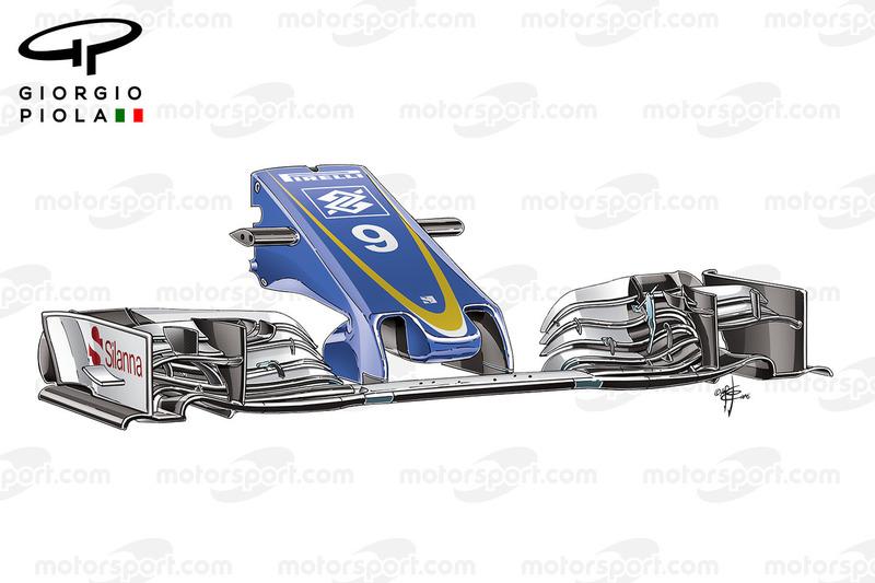 Sauber C35, l'ala anteriore al GP del Belgio