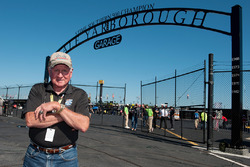 Cale Yarborough in front of the Darlington garage area named in his honor