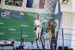 Podium:  second place Jack Aitken, ART Grand Prix, Race winner George Russell, ART Grand Prix, third place Anthoine Hubert, ART Grand Prix