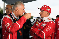 Piero Lardi Ferrari, Ferrari Vice President and Kimi Raikkonen, Ferrari at Ferrari 70th Anniversary