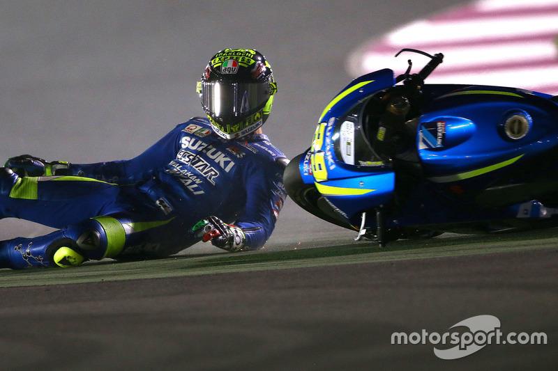 Andrea Iannone, 15 kali kecelakaan