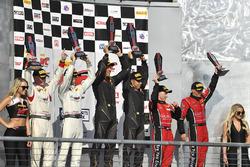 Podium: race winners Daniel Mancinelli, Niccolo Schiro, TR3 Racing, second place Johnny O'Connell, Ricky Taylor, Cadillac Racing, third place Jon Fogarty, Wolf Henzler, Gainsco/Bob Stallings Racing
