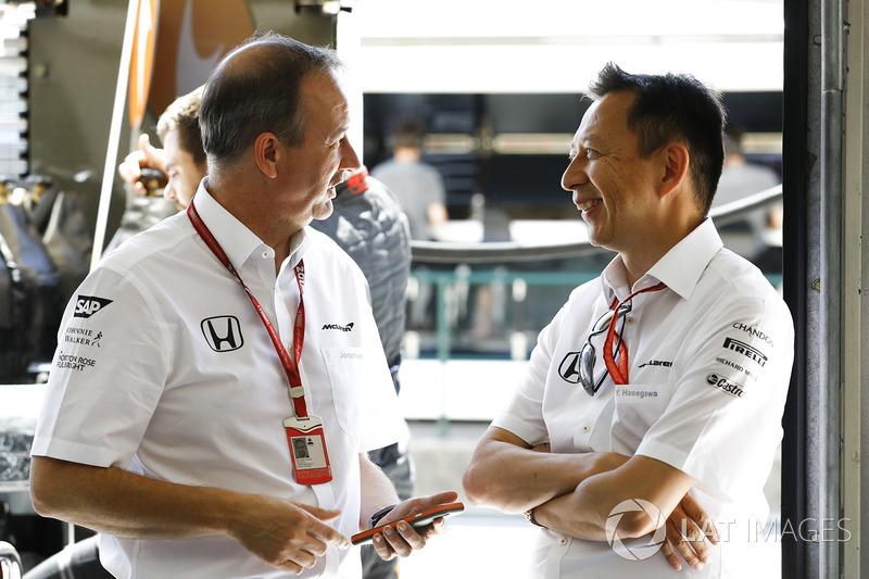 Джонатан Ніл, керуючий директор McLaren, Юсуке Хасегава, керівник програми Ф1 Honda