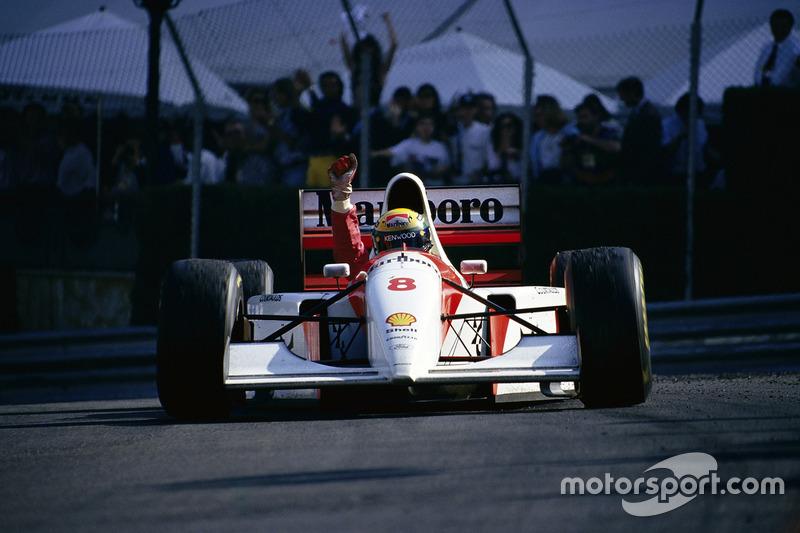 Айртон Сенна, McLaren, перемагає