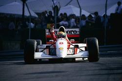 Ayrton Senna, McLaren, wins