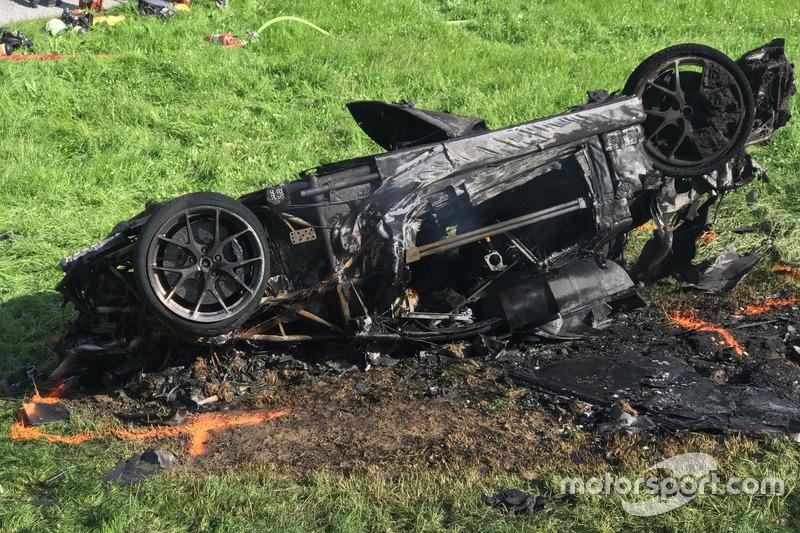 Авария Ричарда Хаммонда за рулем Rimac Concept One