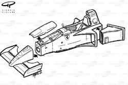 Ferrari 412T2 (647) 1995 exploded chassis