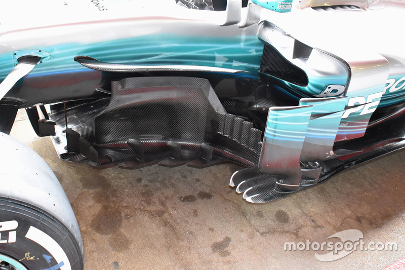 Mercedes AMG F1 W08, detalle lateral