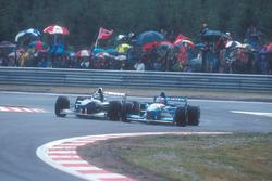 Дэймон Хилл, Williams FW17 Renault, и Михаэль Шумахер, Benetton B195 Renault