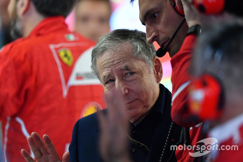 Jean Todt, FIA President in the Ferrari garage