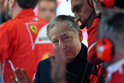Jean Todt, FIA President in the Ferrari garage