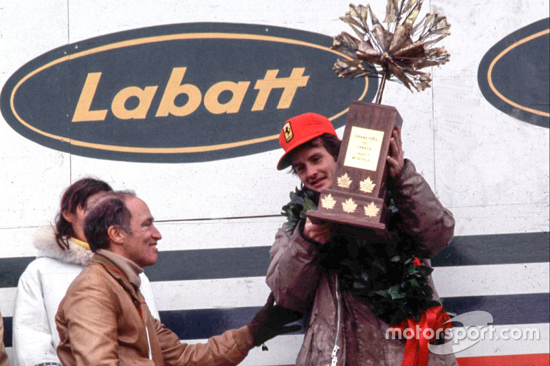 Победитель Гран При Жиль Вильнёв и премьер-министр Канады Пьер Эллиот Трюдо