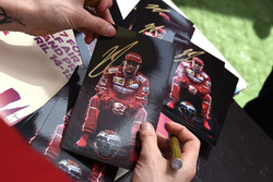 Kimi Räikkönen, Ferrari. Autogramm