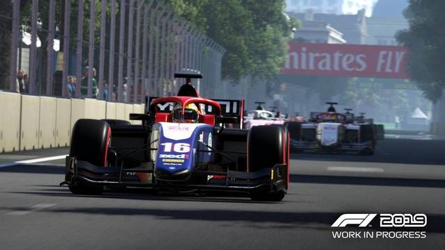F1 2019 - F2 in game footage - Lando Norris at Bahrain