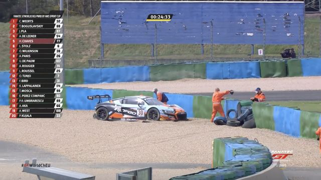 Magny-Cours Race 2: Audi hits barriers