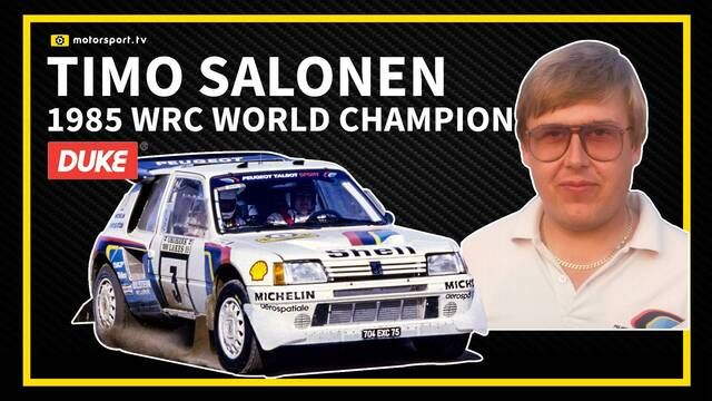 1985 WRC World Champion - Timo Salonen