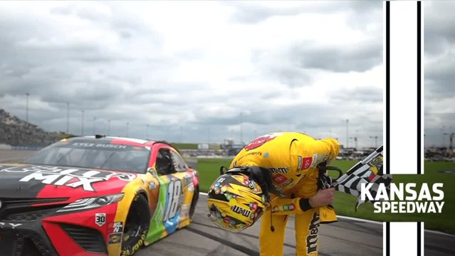 Final Laps: Kyle Busch celebrates his birthday in Victory Lane in Kansas
