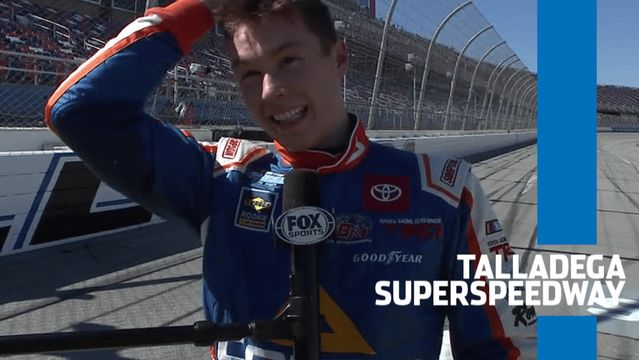 Lessard after Talladega win: 'First time doing a burnout; hope to do more'
