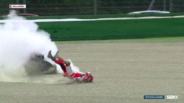 WorldSBK Imola: Accidente de Michael Ruben Rinaldi
