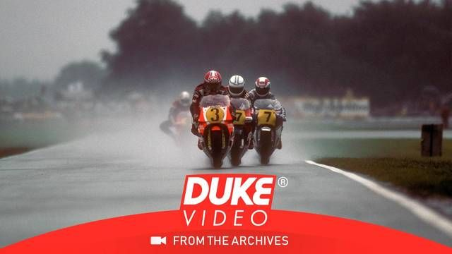 Wet start at the Dutch Bike Grand Prix 1985
