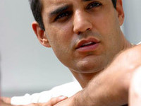 Montoya smiling for charity