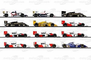 Formula 1 En iyiler listesi Ayrton Senna'nın F1 kariyerinde kullandığı araçlar