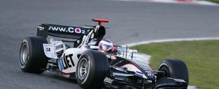 Atlantic Legge pilots Minardi F1 car