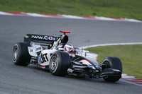 Legge pilots Minardi F1 car