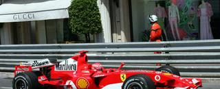 Formula 1 Schumacher on pole position for Monaco GP