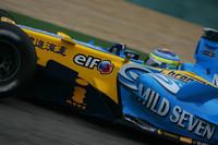 Fisichella fastest on damp Japanese GP Friday