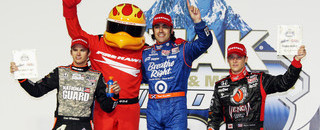 IndyCar Franchitti wins Chicagoland cuts Power's points lead