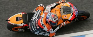 MotoGP Stoner heads MotoGP front row at Le Mans