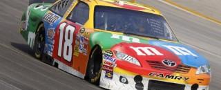 NASCAR Cup Rain Hands Kyle Busch NASCAR Kentucky 400 Pole