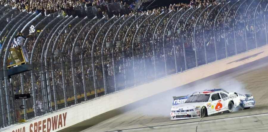 Stenhouse Slides To Nationwide Victory At Iowa Speedway