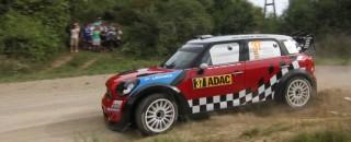 WRC MINI takes first podium at Rally Deutschland