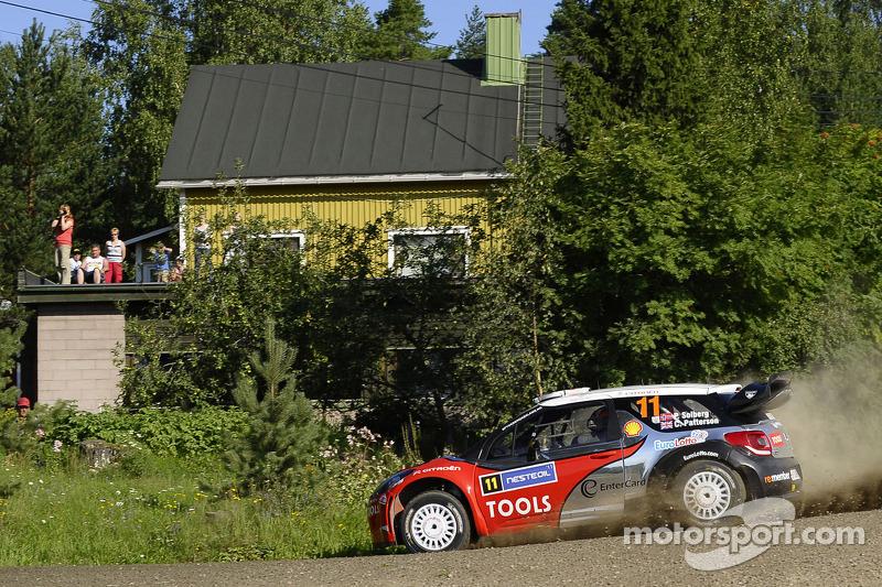Petter Solberg arrives at Rally Australia