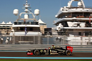 Formula 1 Lotus Renault's Romain Grosjean about the Abu Dhabi Grand Prix