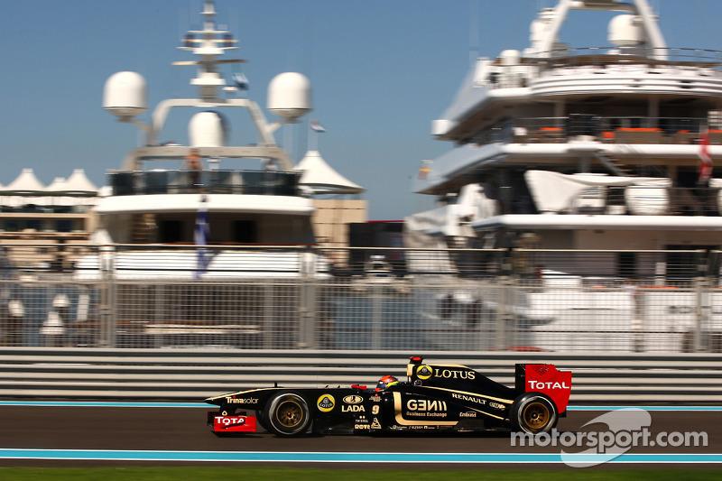 Lotus Renault's Romain Grosjean about the Abu Dhabi Grand Prix