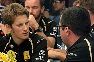 Formula 1 Lotus Renault's Romain Grosjean talks about the 2012 season