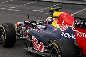 Formula 1 Webber denies 'backing up' rivals for Vettel