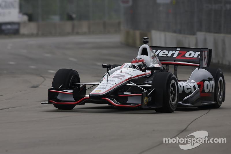 Team Penske's Power leads Friday Belle Isle practice