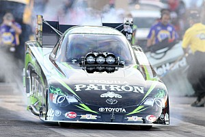NHRA Race report 'First or Worst' rule comes into play after a wild first round at Brainerd for Team Patrόn