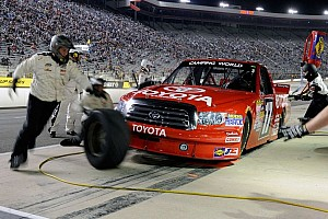 NASCAR Truck Special feature All the crashes and post race reactions from the UNOH 200 at Bristol - videos