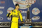 Logano drove his Toyota to victory lane at Bristol