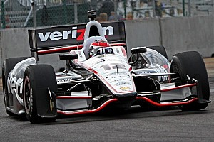 IndyCar Qualifying report Points leader Power nails down pole on Baltimore street circuit