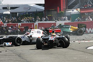 Formula 1 Race report Ruined race for Sauber after first corner incident at Spa