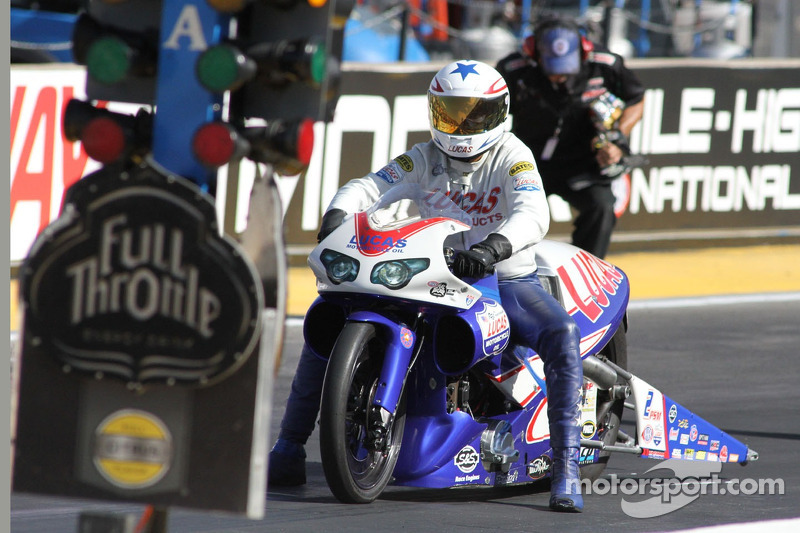 Arana Jr. returns to his usual perch atop Pro Stock Motorcycle field at St. Louis