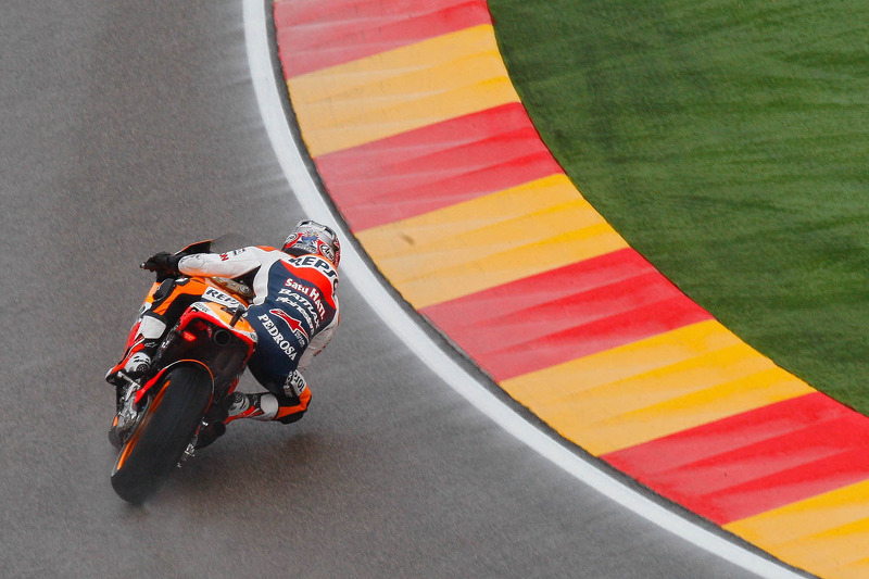 Repsol Honda: Pedrosa second on tricky conditions in Aragon