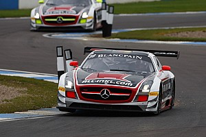 Blancpain Sprint Race report Muennich Motorsport takes both titles at the GT1 world championship